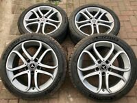 "2017 GENUINE MERCEDES BENZ A B C E CLASS VITO 17"" D-CUT ALLOY WHEELS WITH MICHELIN TYRES.."