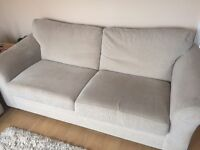 Next 2 and 3 seater sofa beige