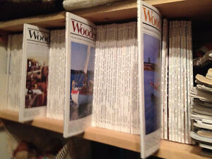 WOODEN BOAT MAGAZINE COLLECTION.  NINETY VINTAGE COPIES