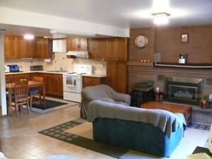 Wonderful walk-out basement (all incl, furnished) from JAN 1-5