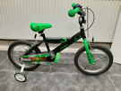 """14"""" bike for boys. With stabilizers."""