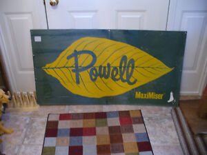 ANTIQUE POWELL TOBACCO KILN SIGN