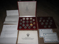 1980 USSR MOSCOW OLYMPIC GAMES SILVER RUBLE PROOF 28 COIN SET