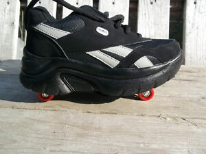 Brand New: Kid's Size 5 Rollerblade Shoes, Retractable Wheels