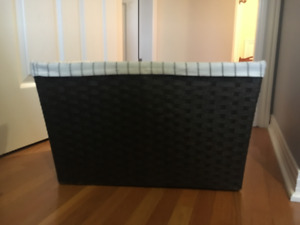 Lined Wicker-style /Laundry Basket