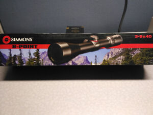 Simmons 8-Point 3-9x40 Riflescope with Truplex Reticle