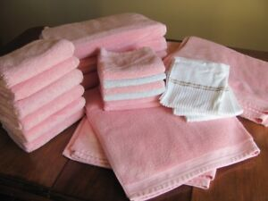 Grapefruit pink Bath Towels and Hand Towels