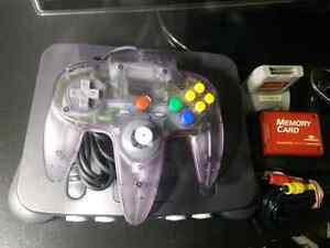 Nintendo 64 complete system with Atomic purple controller + more