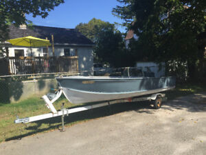 14 foot aluminum boat with trailer
