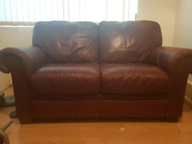 2 seater leather sofa FREE TO COLLECT