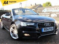 2014 AUDI A5 1.8 TFSI S LINE CABRIOLET AUTOMATIC PETROL CONVERTIBLE PETROL