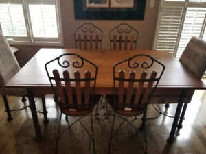 GORGEOUS 15-Piece Solid Wood & Iron Dining Room Set