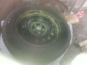 195/65 r 15 studded winter tires on toyota  rims