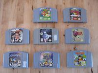 Collection de jeux vidéo n64,super nintendo,xbox,ps2,ps3