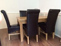 Dining table & 6 chairs by Schreiber