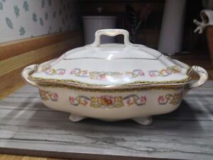 Antique Oval Covered Vegetable Guernsey Dish by Johnson Brothers