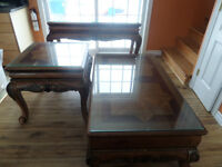 living table set of 3 ( victorian style)