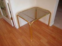 glass coffee/side tables