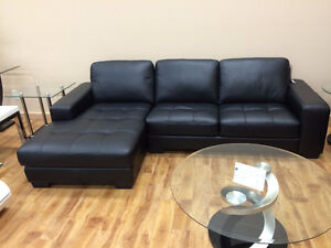 BRAND NEW REAL LEATHER SECTIONAL COUCH
