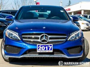 2017 Mercedes Benz C300 4matic - 1OWNER|BLINDSPOT WARNING|SUNROO