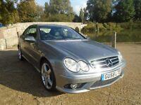 Mercedes CLK 1.8 200 Kompressor Sport 2dr (aluminium/silver) 2009