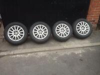"15"" 5x100 alloys golf bora polo fabia Ibiza Volkswagen Skoda seat alloy wheels"