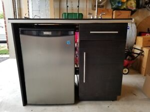 Wet Bar with Mini Fridge for Sale