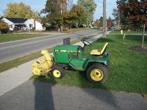 John Deere  316 with blower and deck