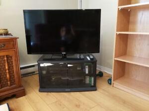 televiseur Samsung HDMI, 42 pouces + meubles de télé