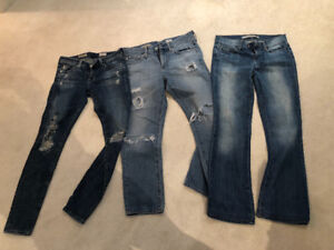 Designer jeans. AG and Joes jeans. Size 24 and 25