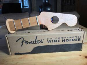 Fender Stratocaster Headstock Wine Bottle Holder
