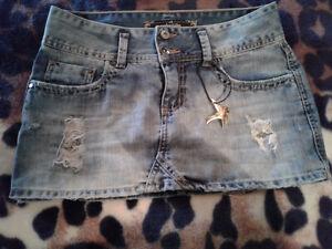 Mini jupe jeans