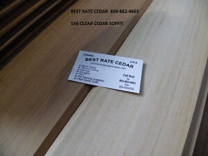 "Clear and stk cedar Fine line 1/8"" gapped siding 3-20'"