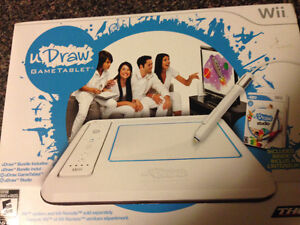 Wii U Draw Game Tablet + 2 games - Brand New