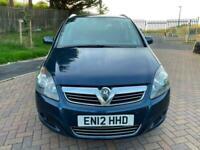 2012 Vauxhall Zafira 1.8i Excite 5dr MPV Petrol Manual