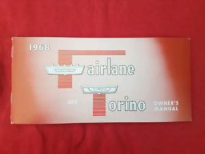 1968 FORD FAIRLANE TORINO GT NOS Owners Manual