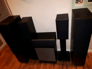 Home theater speaker package