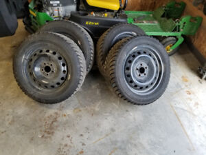 P205-55R16 Studded winter tires and steel rims for sale