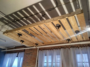 *WOODEN* Suspended Ceiling Rack