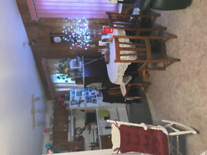 Free black leather couch and love seat also  large foot stool