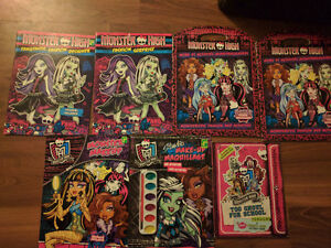 7 monster high coloring books and workbooks 4$ obo