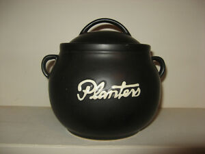 PLANTER'S PEANUT vacuum sealed Ceramic Jar