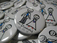 Custom Pins or Buttons - Perfect Wedding Favour