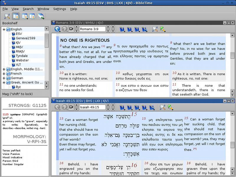 BibleTime (Professional Bible Study Software Suite) Windows/Mac CD