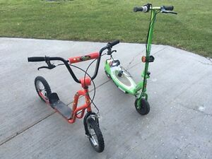 Razor and push scooter