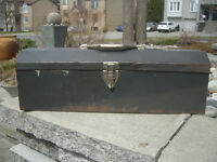 TOOL BOX, GREY, METAL