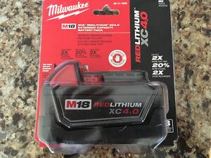 MILWAUKEE M18 BATTERY XC 4.0