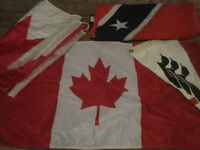 Canadian flags etc.
