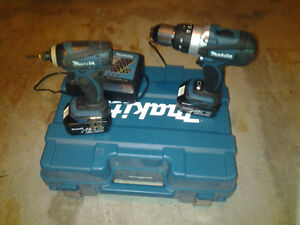 TWO Makita Hammer Drill/ Impact Driver/ Battery Pack