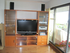 """Scandesign"" Cherry wood Entertainment Centre"